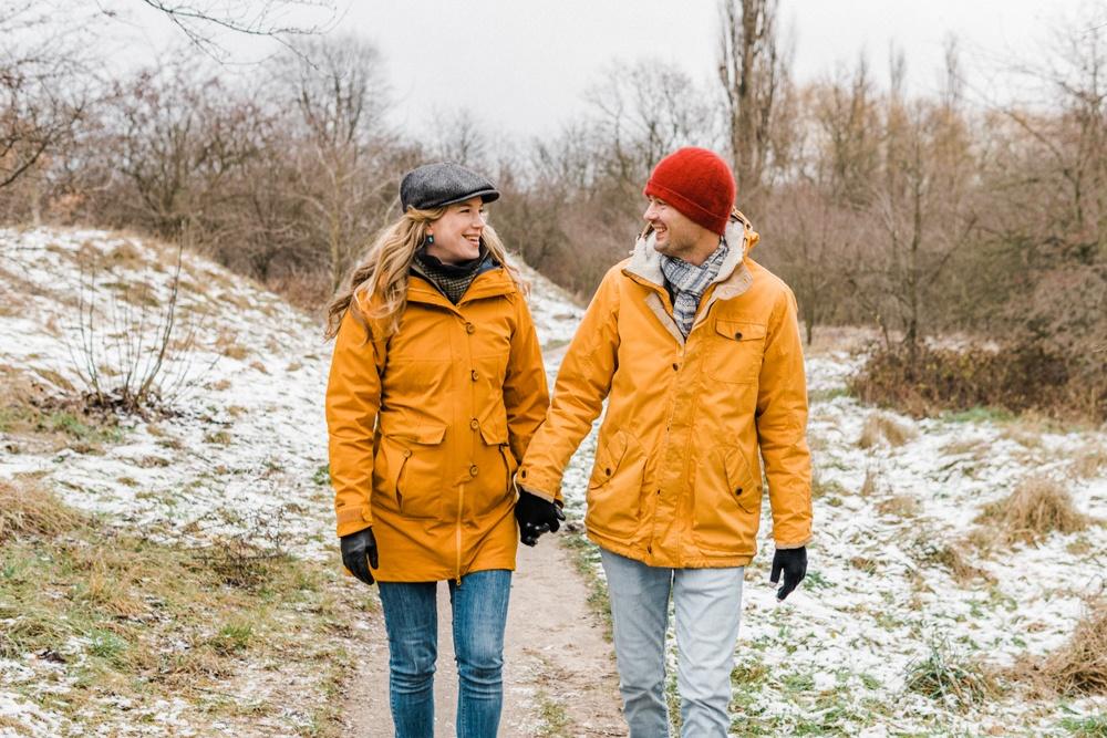 Zimowa sesja ciazowa w Krakowie