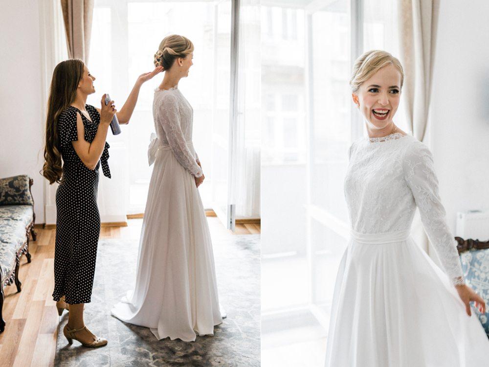 Wedding photographer Cracow przygotowania panny mloden fragola apartments