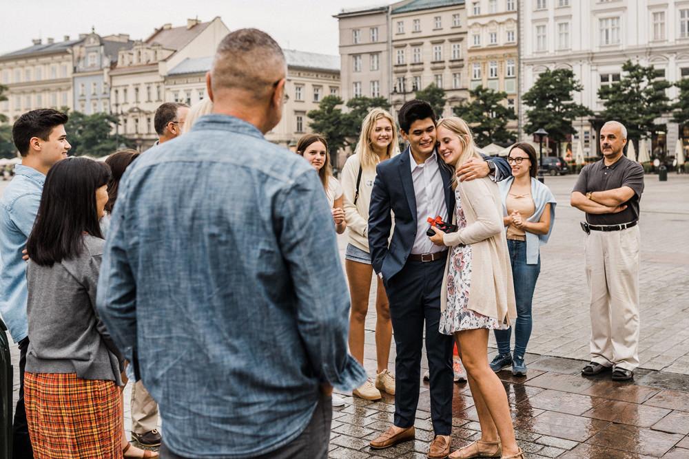 surprise proposal cracow