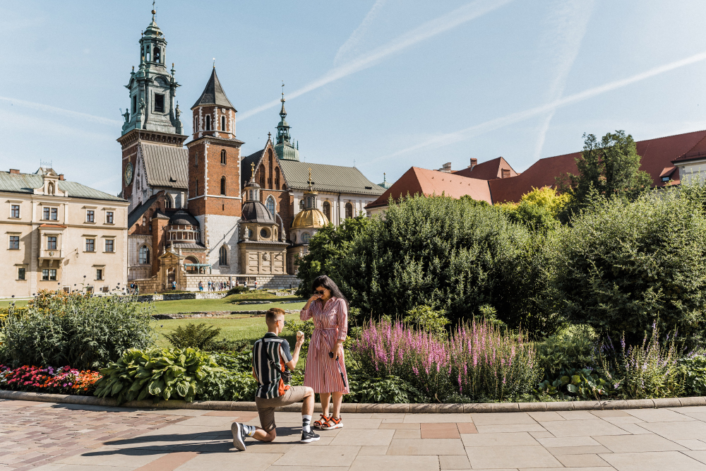 Where to propose in Cracow Wawel Castle