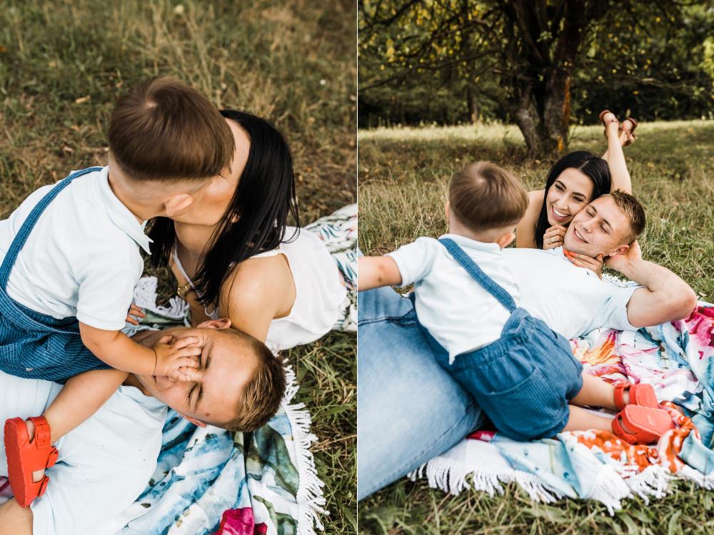 Sesja rodzinna z poltorarocznym dzieckiem Krakow