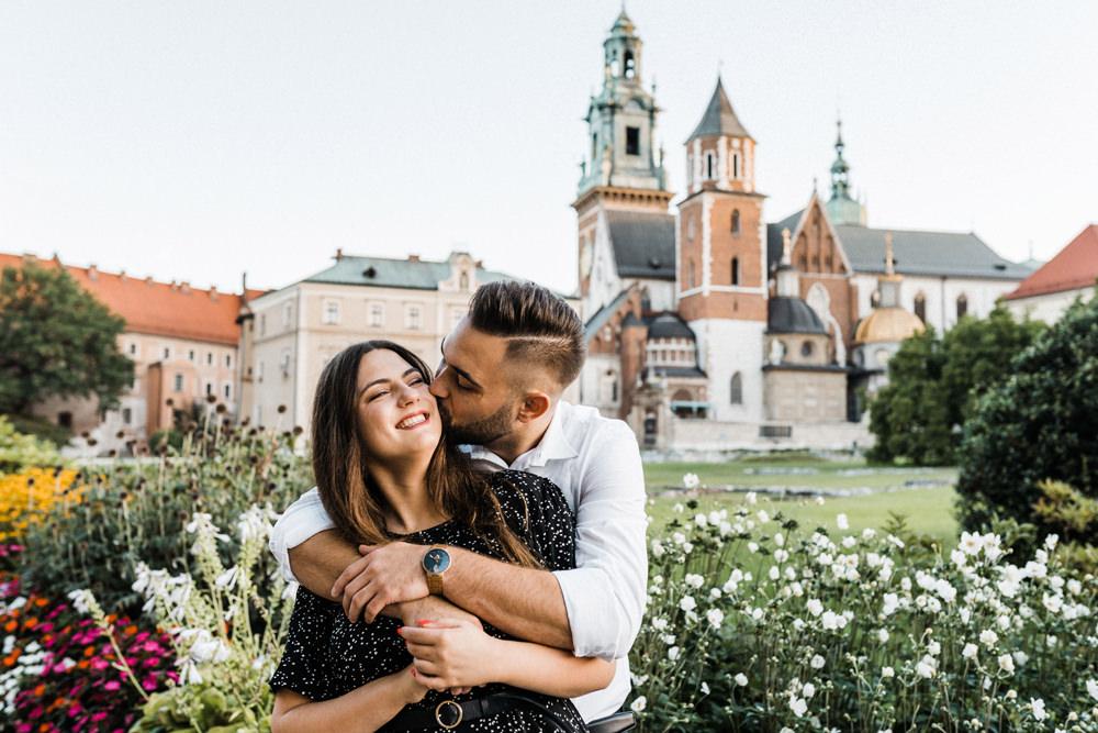 Sesja narzeczenska na Wawelu