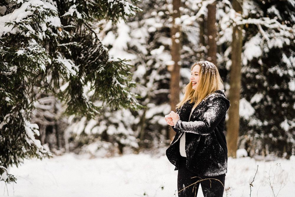 sesja zdjeciowa w zimie krakow