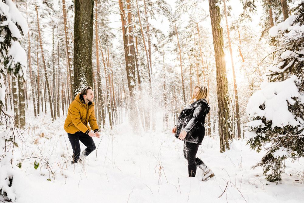 zimowa sesja fotograf krakow