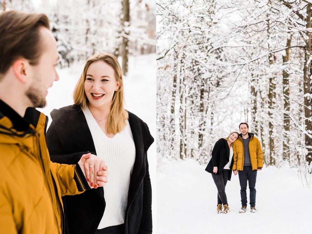 sesja narzeczenska w zimie fotograf krakow