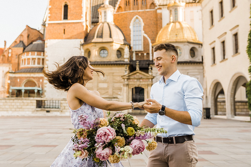 wawel castle proposal photographer